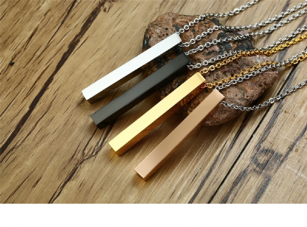 Line Cube Necklace